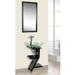 DreamLine Modern Z-shape Wood Black Vanity Set
