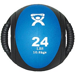 Cando 24-pound Dual-handle Blue Medicine Ball