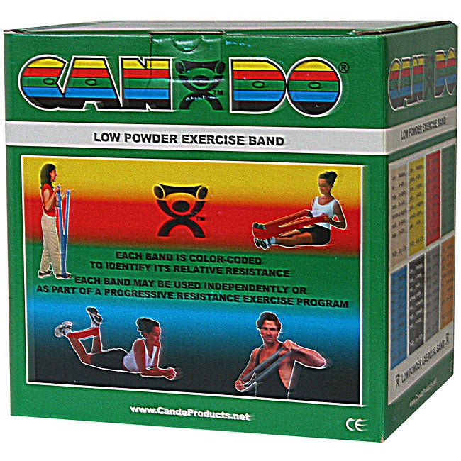 Cando Green Medium 50-yard Low Powder Exercise Band