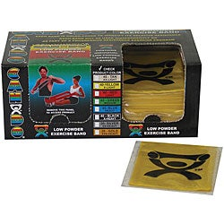 Cando Yellow Latex Exercise Bands 4-Foot Strips (Pack of 40)