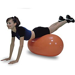 Cando Inflatable Orange Straight Roll Ball 20 x 43 inches