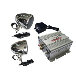 Pyle 100 Watt Motorcycle/ATV/Snowmobile Audio Set