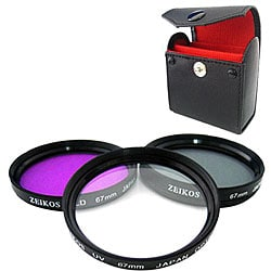 Zeikos 67mm Multi Coated Glass Filter Kit