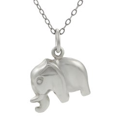 Tressa Sterling Silver Elephant Necklace