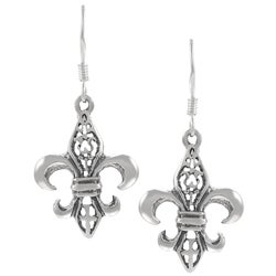 Tressa Sterling Silver Fleur de Lis Dangle Earrings