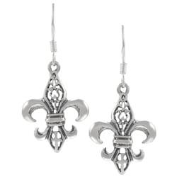 Tressa Sterling Silver Fleur de Lis Dangle Earrings