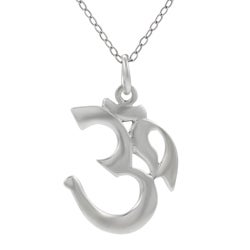 Tressa Sterling Silver Ohm Necklace