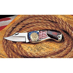 American Coin Treasures Gold-layered Dual-dated Bicentennial Quarter Pocket Knife