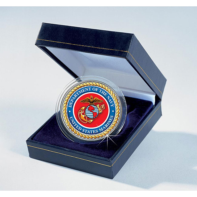 American Coin Treasures Armed Forces Commemorative Colorized JFK Marines Half-dollar