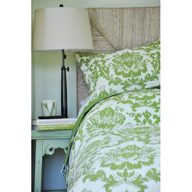 Damask Green 2-piece Quilt and Sham Set