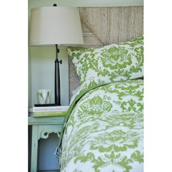 Damask Green 2-piece Quilt and Sham Set