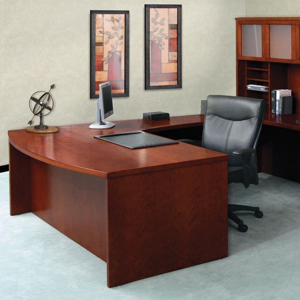 Mayline Mira 72 Inch Bow Front Desk Shell 12409400