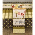 Cotton Tale Elephant Brigade 4-piece Crib Bedding Set