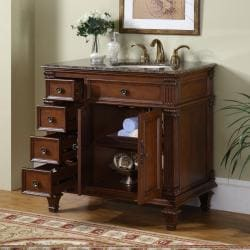Silkroad Exclusive Moraga Bathroom Single-sink Vanity