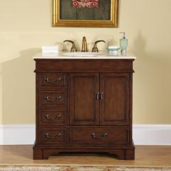 Silkroad Exclusive Riverbank Bathroom Single-sink Vanity