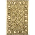 Hand-knotted Beige New Zealand Wool Chronos Rug (5'6 x 8'6)