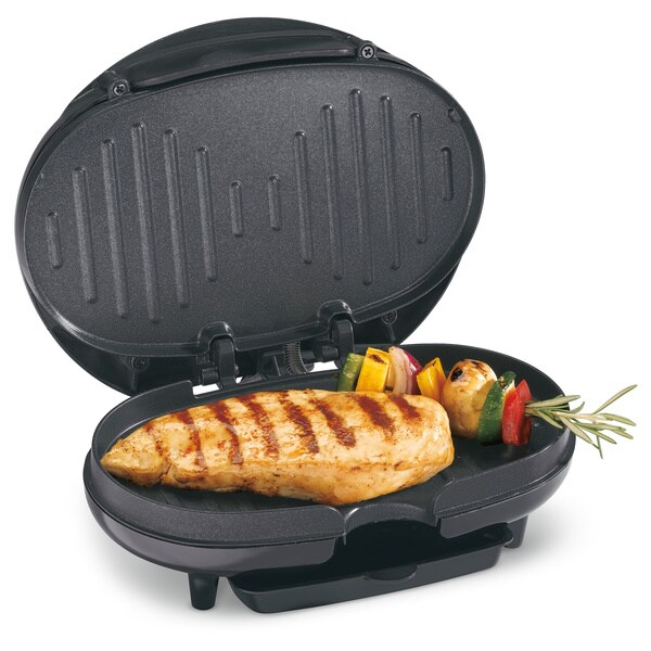 Hamilton Beach 25218 Black Compact Electric Grill