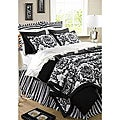 Damask Black  2-piece Twin Quilt Set