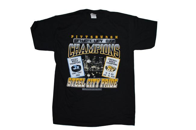 Pittsburgh 'City of Champions' Black T-shirt