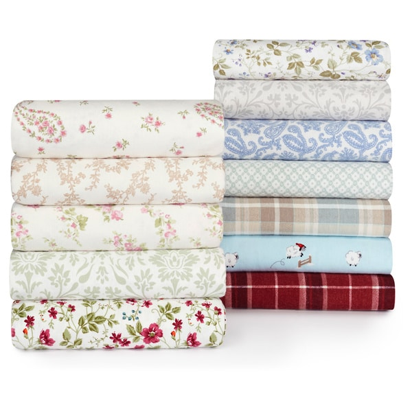 Laura Ashley 4 Piece Flannel Sheet Set 12410463