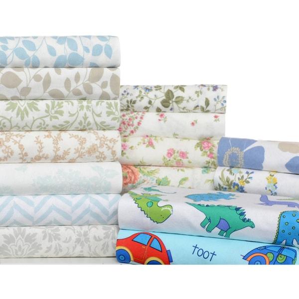 Laura Ashley 4-piece Flannel Sheet Set