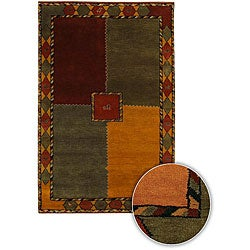 "Hand-Knotted Mandara New Zealand Wool Area Rug (7'9"" Round)"