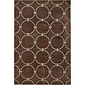 Hand-tufted Brown New Zealand Wool Mandara Rug (7'9 x 10'6)