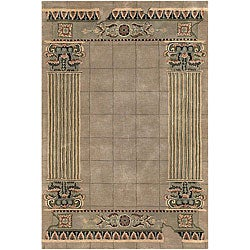 "Hand-Tufted Contemporary/Transitional Mandara Rug (5' x 7' 6"")"