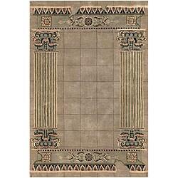 Hand-Tufted Mandara Border Pattern Rug (7'9 x 10'6)