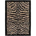 Handwoven Mandara Contemporary New Zealand Wool Rug (5' x 7'6)