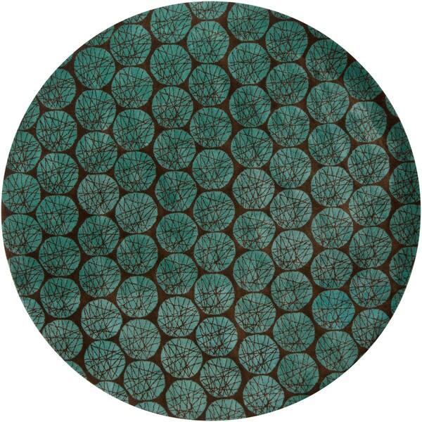 Hand-tufted Mandara Wool Area Rug (7'9 Round)