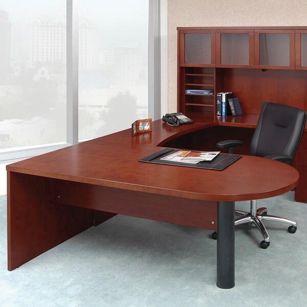Mayline Mira Series 72-inch Peninsula Desk