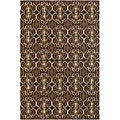 Hand-Tufted Brown/Beige Mandara Wool Rug (5' x 7'6)