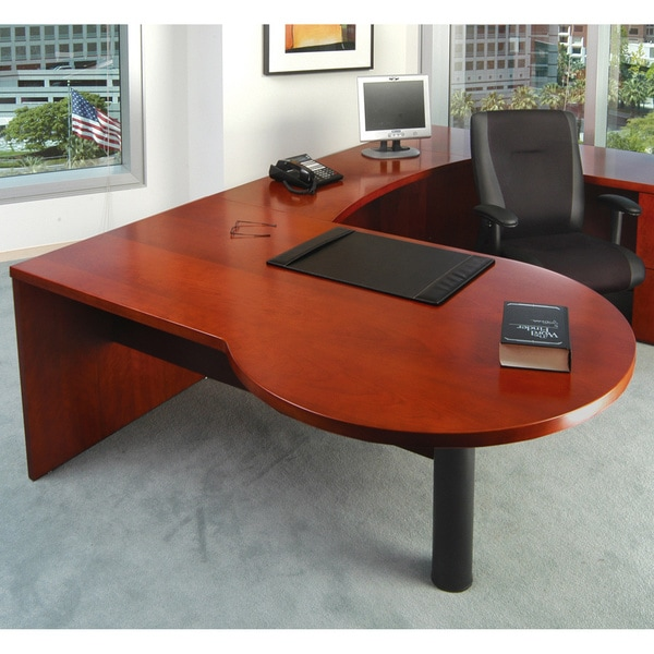 Mayline Mira Series 72-inch Left P-shaped Desk