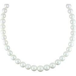 Miadora White South Sea Pearl and Diamond Necklace (10-13.5 mm)