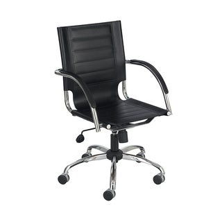 Safco Flaunt Black Polyurethane Leather Manager's Chair