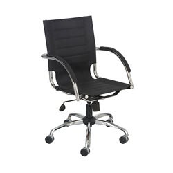 Safco Flaunt Managers Chair in Black Microfiber