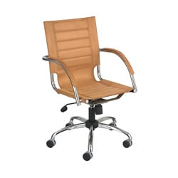 Safco Flaunt Managers Camel Microfiber Chair