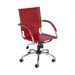 Safco Flaunt Red Polyurethane Leather Managers Chair
