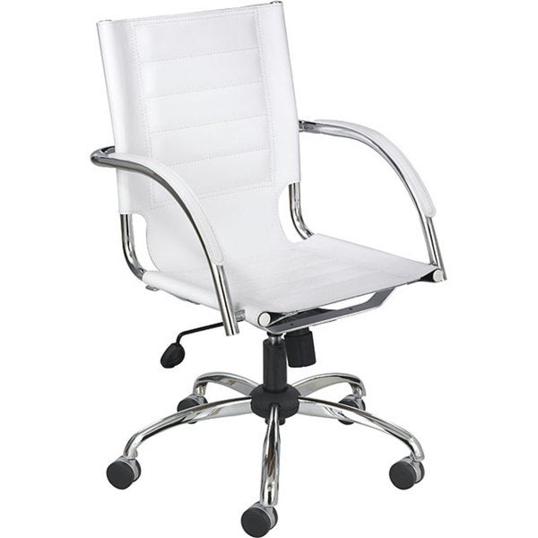 Safco Flaunt White Polyurethane Leather Manager's Chair