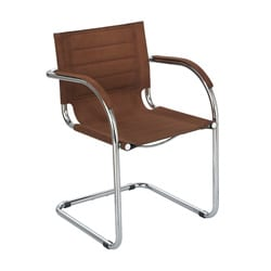 Safco Flaunt Brown Microfiber Guest Chair