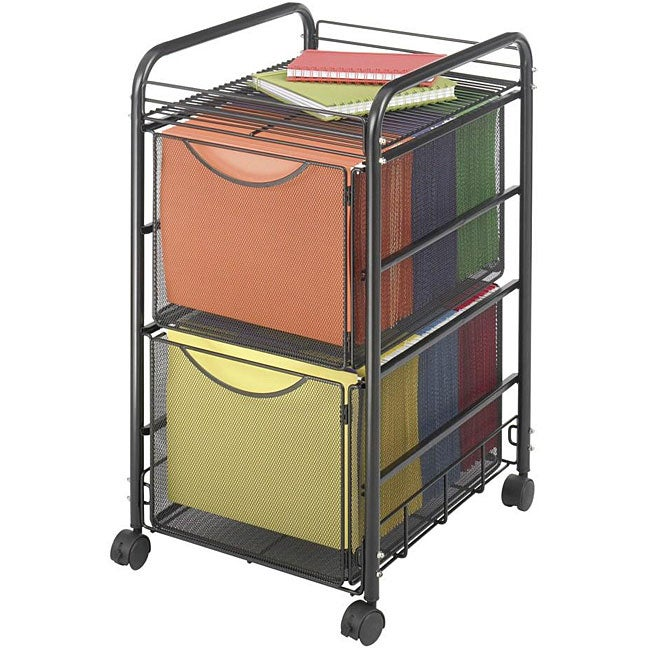 Safco Onyx Mesh Mobile Double File Cart 12414555