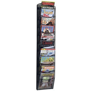Safco Onyx Mesh Ten-Pocket Magazine Rack