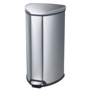 Safco 10-gallon Step-on Stainless Trash Can