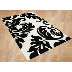 Alliyah Handmade White New Zealand Blend Wool Rug Wool Rug (4' x 6')