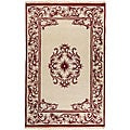 Hand-knotted Burgundy New Zealand Wool Bengal Rug (2'6 x 12')