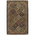 Set of 2 Hand-knotted Sangli New Zealand Wool Rugs (2' x 3')
