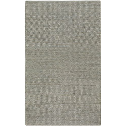 Hand-woven Grey Natural Fiber Jute Braided Texture Priam Rug (5' x 8')