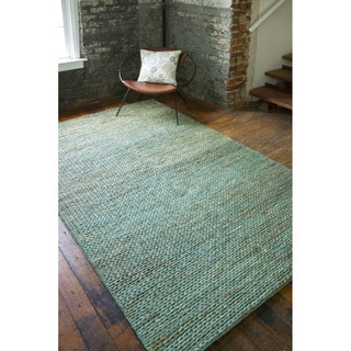 Set of Two Durable Handwoven Priam Natural Fiber Jute Braided Texture Rugs (2' x 3')