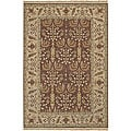 Hand-knotted Legacy Red New Zealand Wool Rug (4' x 6')